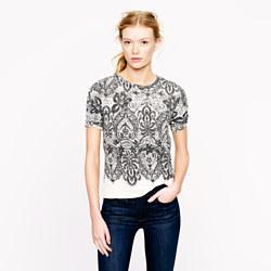 J.Crew lace print sweatshirt