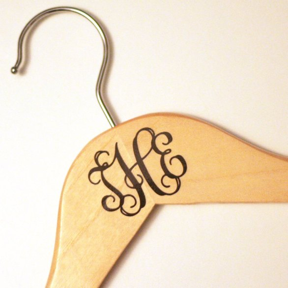 Etsy monogram hanger