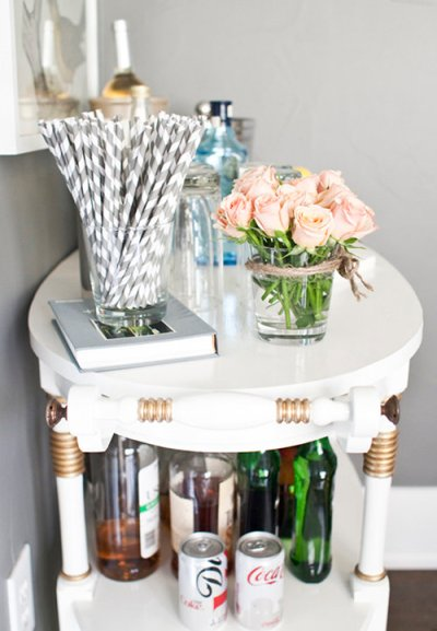 designsponge White Bar End Table