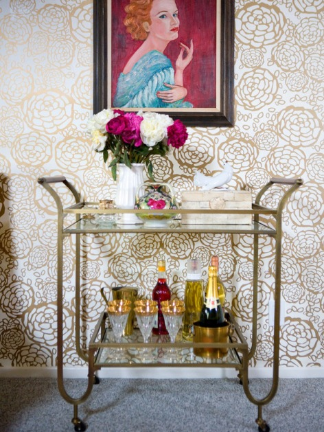 hgtv Gold Retro Bar Cart