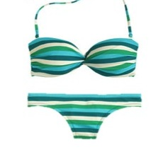 J Crew Stripe Swimsuit