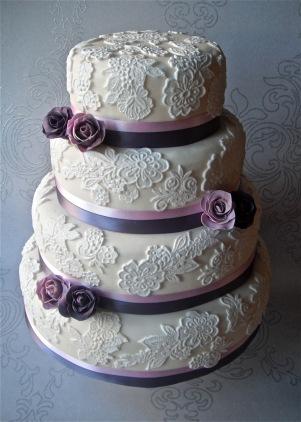 sugar ruffles lace cake