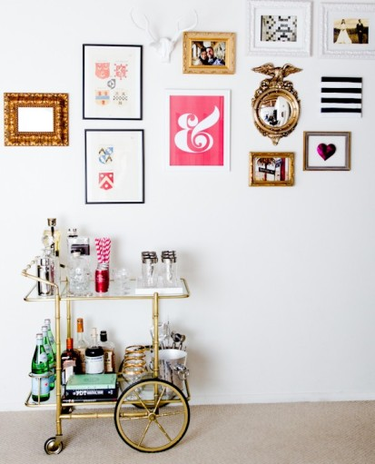thelifestyleblog Wheel Bar Cart