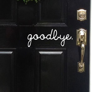 Etsy Goodbye Decal