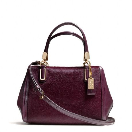 Madison Mini Satchel in Haircalf