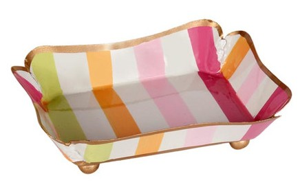 Design Darling Pastel Stripe Dish
