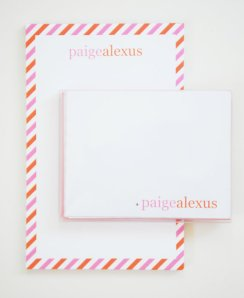 Personalized Notepad and Notecards