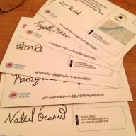 Postcard samples