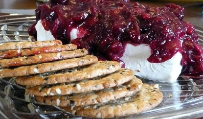 Cranberry Relish over Cream Cheese Appetizer