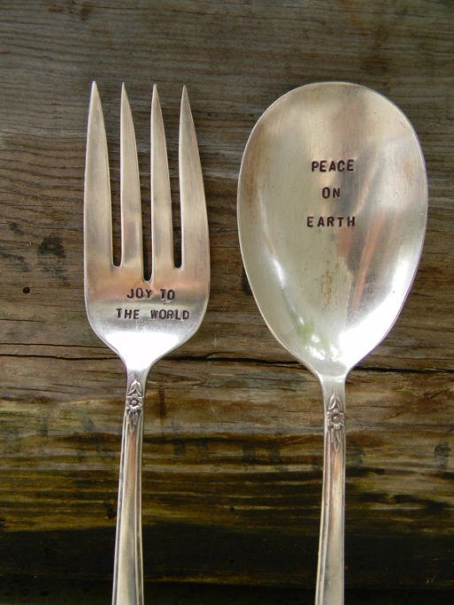 Pretty Paris Stamped Vintage Flatware