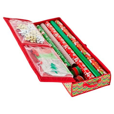 Holiday Wrap Storage