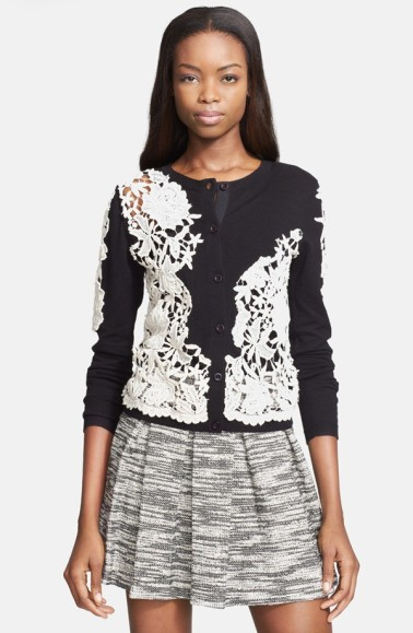 Alice + Olivia Lace Cardigan
