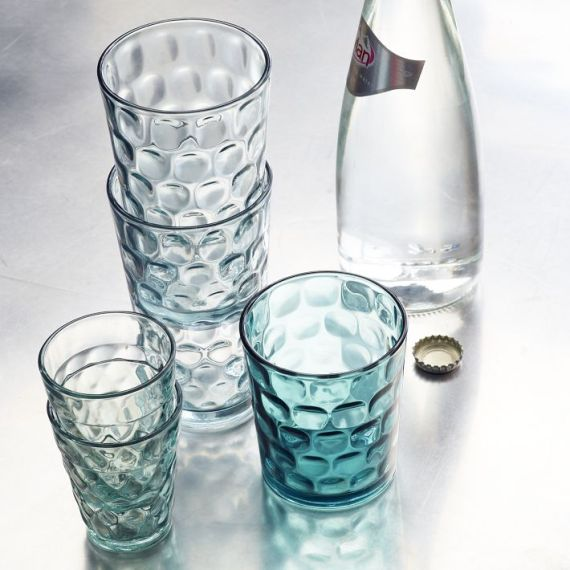 West Elm dimpled glassware