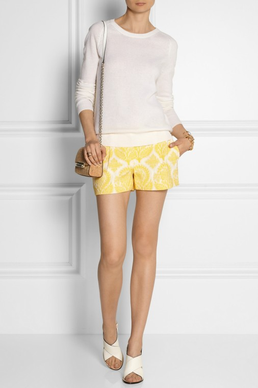 DVF jacquard shorts, love the pattern!