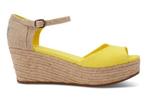 Toms Linen Wedge