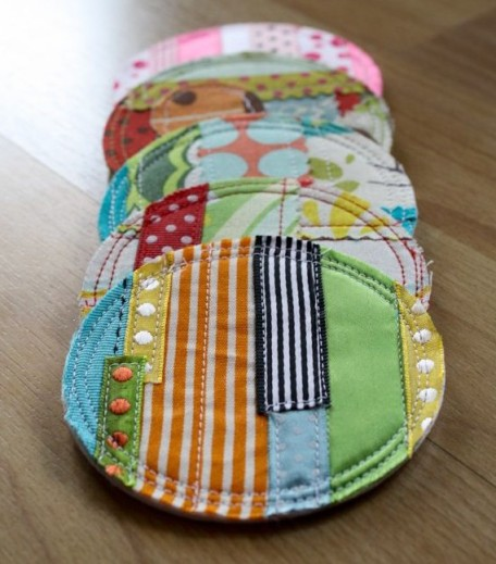 odds and ends fabric coasters