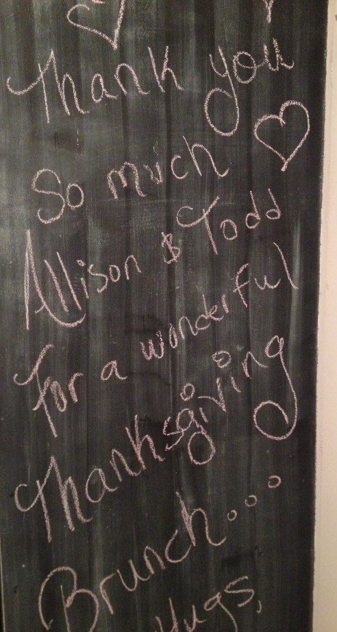 brunch chalkboard message