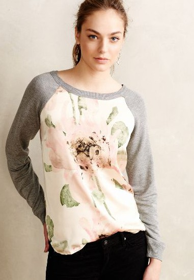 Anthro Exclusive Floral Pullover