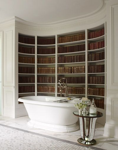 bathtub Bookcase